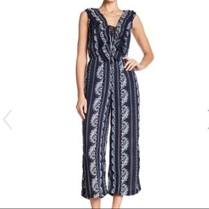 NWT Romeo & Juliet Couture Navy Jumpsuit Medium